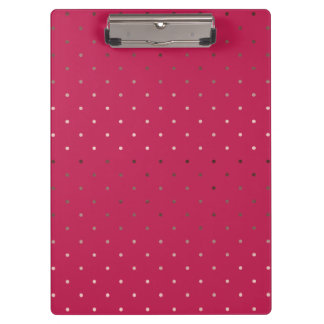 tiny faux rose gold foil pink polka dots pattern clipboards