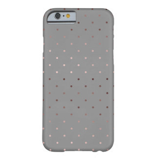 tiny faux rose gold grey polka dots pattern barely there iPhone 6 case