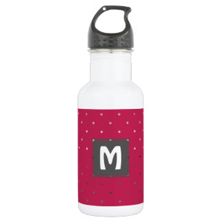 tiny faux rose gold pink polka dots pattern 532 ml water bottle