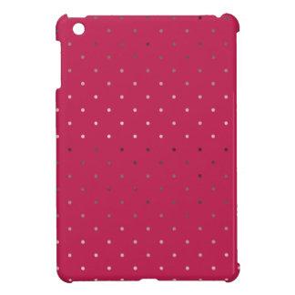 tiny faux rose gold pink polka dots pattern iPad mini cover