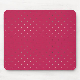 tiny faux rose gold pink polka dots pattern mouse pad