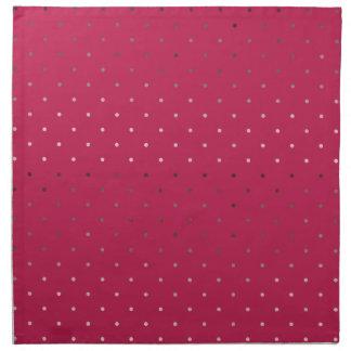 tiny faux rose gold pink polka dots pattern napkin