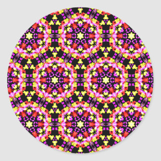 Tiny Floral Pattern Classic Round Sticker