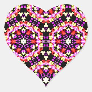 Tiny Floral Pattern Heart Sticker
