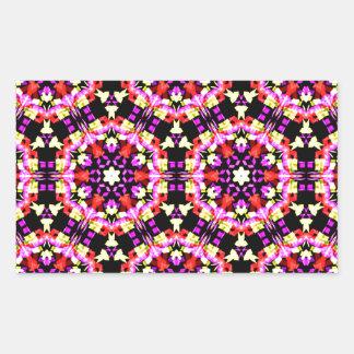 Tiny Floral Pattern Rectangular Sticker