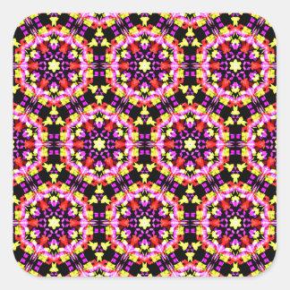 Tiny Floral Pattern Square Sticker