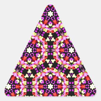 Tiny Floral Pattern Triangle Sticker