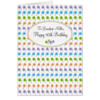 Tiny Flowers Happy 95th Birthday Card