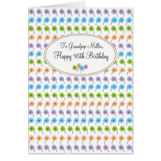 Tiny Flowers Happy 95th Birthday Greeting Card