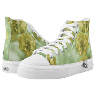 Tiny Flowers Yellow High Tops