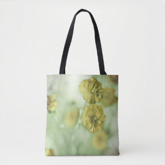 Tiny Flowers Yellow Tote Bag