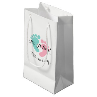 Tiny Footprints Baby Reveal Party Gift Bag