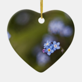 Tiny forget me not flower ceramic ornament