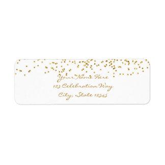 Tiny Gold Dots Confetti Modern Wedding Labels