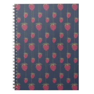 Tiny Hanging Strawberries Notebook