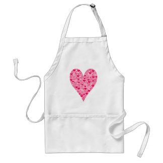 Tiny Hearts Big Heart on Rose Pink Standard Apron