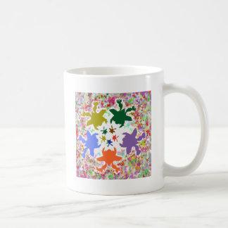 Tiny Hearts  -  Happy Aquatic Family Dance Coffee Mugs