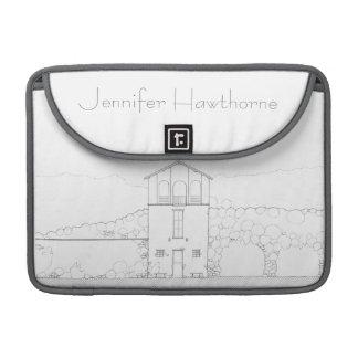 Tiny House Black & White Architecture Personalized MacBook Pro Sleeve
