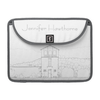 Tiny House Black & White Architecture Personalized Sleeve For MacBook Pro