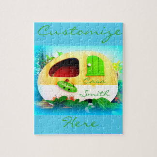 tiny house gypsy caravan jigsaw puzzle