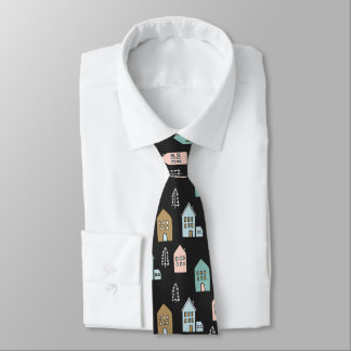 Tiny Houses Print Tie