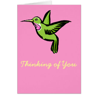 Tiny Hummingbird Card