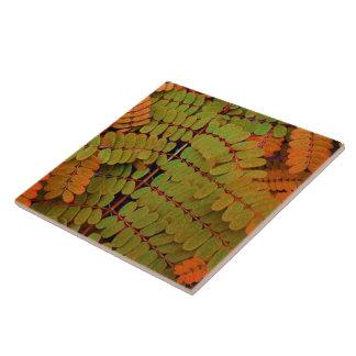 Tiny Leaves Pattern Large Square Tile