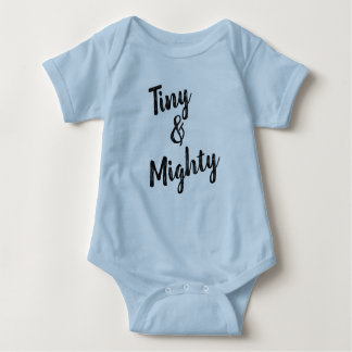 Tiny & Mighty Blue Baby Bodysuit