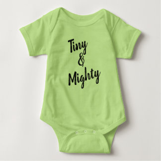 Tiny & Mighty Green Baby Bodysuit