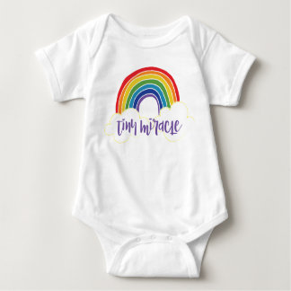 Tiny Miracle Rainbow Baby Baby Bodysuit