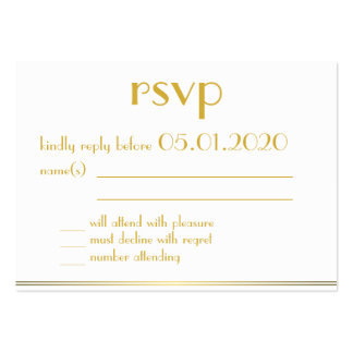 Tiny Monogrammed Great Gatsby Wedding RSVP Cards Large Business Cards (Pack Of 100)