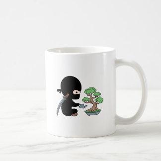 Tiny Ninja Watering Bonsai Tree Coffee Mug