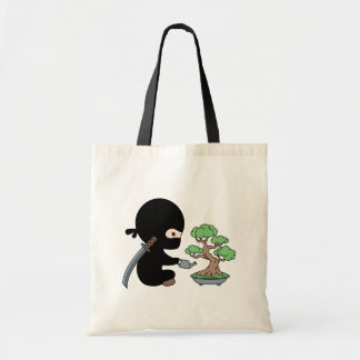Tiny Ninja Watering Bonsai Tree Tote Bag