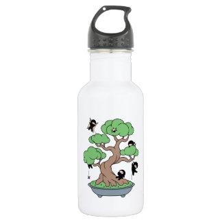 Tiny Ninjas in Bonsai Tree 532 Ml Water Bottle