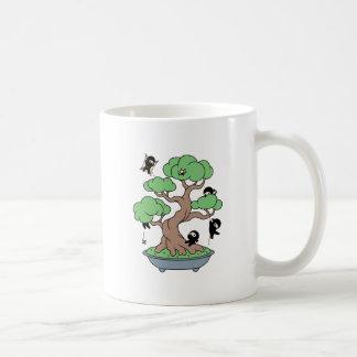Tiny Ninjas in Bonsai Tree Coffee Mug