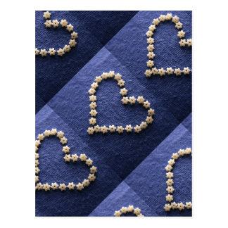 Tiny Pasta Stars Heart Shape Postcard