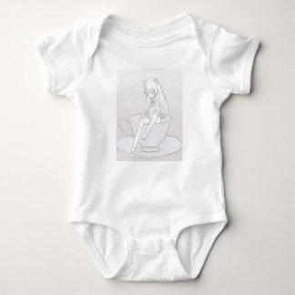 tiny pastel tea party baby bodysuit