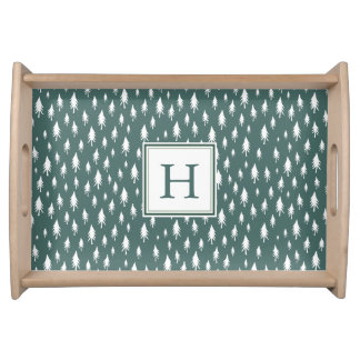 Tiny Pines | Monogrammed Holiday Serving Tray