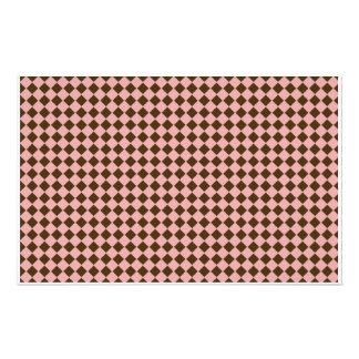Tiny Pink and Brown Diamonds Scrapbooking Paper