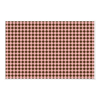 Tiny Pink and Brown Diamonds Scrapbooking Paper Stationery