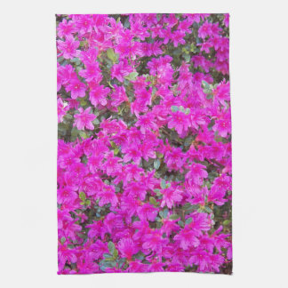 Tiny Pink Blossoms Floral Tea Towel