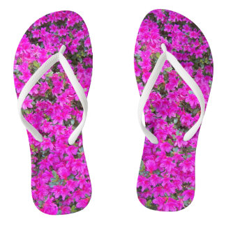 Tiny Pink Blossoms Floral Thongs