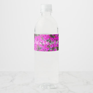 Tiny Pink Blossoms Thank You Water Bottle Label