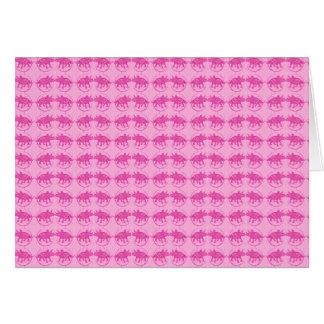 Tiny Pink Triceratops Print Card
