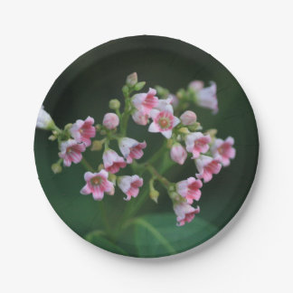 Tiny Pink Wildflowers Paper Plate