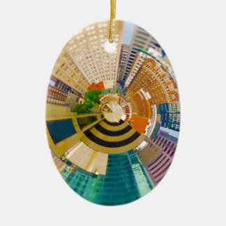 Tiny Planet Downtown Kansas City, Mo. Ceramic Ornament