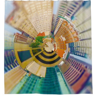Tiny Planet Downtown Kansas City, Mo. Shower Curtain