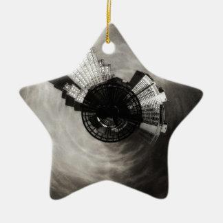 Tiny Planet Power and Light Building Kansas City Ceramic Ornament