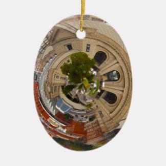 Tiny Planet Union Station Kansas City MO. Ceramic Ornament