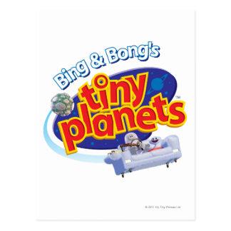 Tiny Planets Logo Postcard